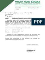Surat Pemberitahuan Pergantian Personil
