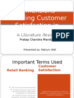 Dimensions Affecting Customer Satisfaction in Retail Banking