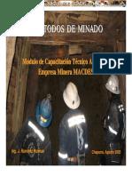Curso Metodos de Minado Mineria Subterranea