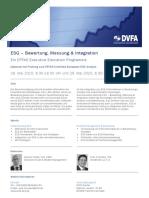 DVFA Executive Seminar ESG