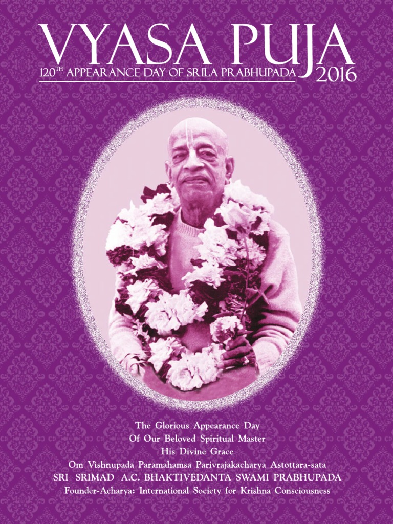 Vyasa Puja 2016 - 120th Appearance day of Srila Prabhupada