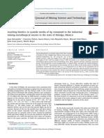 Leaching Kinetics in Cyanide Media of Ag