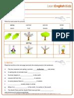 Reading Practice Seasons Worksheet v2
