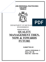 quality Management Seminar