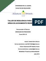Taller de Resiliencia Para Ninos y Ninas en Acogimiento Residencial