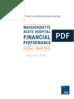 Fy15 Hosp Fin Perf Report-embargoed Until 8.25.16