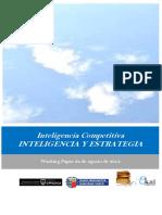 Inteligencia Competitiva. INTELIGENCIA Y ESTRATEGIA