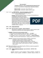 Programul Acțiunilor Din 27 August 2016 - 25 de Ani de Independenta a RM