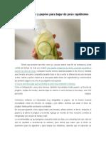 BAJAR de PESO Agua de Limón y Pepino Para Bajar de Peso Rapidísimo