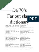 70s slang dictionary