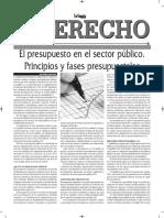 El Presupuesto en El Sector Público - Principios y Fases - Autor José María Pacori Cari - La Razón - Bolivia