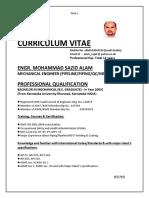 Curriculum Vitae 2016 of Md Sazid Alam Updated
