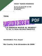 Planificacion de Naturales La Energia