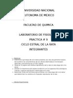 Reporte No. 9 Ciclo Estral