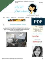 Quarto e Sala Conjugados -Quitinete - Blog de Decoração - Reciclar e Decorar