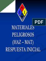 Materiales Peligrosos Haz a Mat Respuesta Inicial
