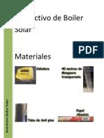 Instructivo de Boiler Solar