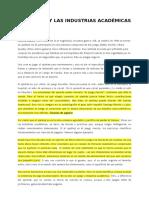 El Ajedrez y Las Industrias Academicas