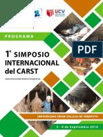 1° SIMPOSIO INTERNACIONAL DEL CARST. PROGRAMA