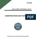 ufc 3-700-02a construction cost estimates (01 march 2005)