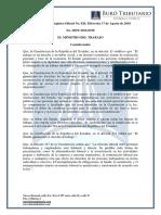 Ro# 820 - S - Expedir Norma Para Aplicación de Ley Para Promoción Del Trabajo Juvenil, Regulación Excepcional de Jornada de Trabajo (17 Agosto 2016)