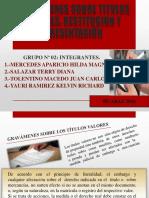 Gravamenes Sobre Titulos Valores Restitucion y Presentaciòn