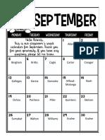 ecalne september snack schedule 2016