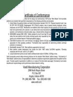Vestil WP-Series OSHA & ANSI Compliance Document