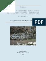 Evaluare a raportării UNESCO