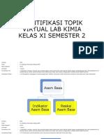 Identifikasi Topik Vl Kimia Kelas Xi Semester 2
