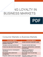 Building Loyalty in Business Markets