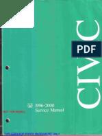 Civic 1996-200 Service Manual