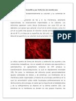 Defecto de La Membrana (Anemia Hemolitica)