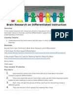 lesson 6 brain research on differentiated instruction