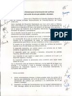 Acuerdo General Fin del Conflicto en Colombia