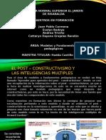 Presentación Del Blog y de La Socialización Al Post Constructivismo