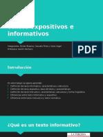 Textos Expositivos e Informativos