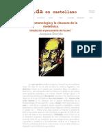 La Fenomenología y La Clausura de La Metafísica (Intro Al Pensamiento de Husserl)