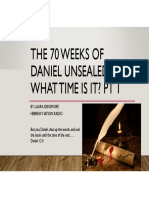 The 70 Weeks and 70 Years of Daniel ~ What Time is It?
