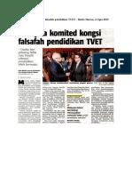 Keratan Akhbar TVET