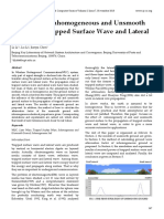 Influence of Inhomogeneous and Unsmooth Ground to Trapped Surface Wave and Lateral Wave