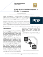 Impacts of Teaching Test-Driven Development to Novice Programmers