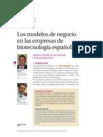 05 2006 UBR March Los Modelos de Negocio en Las Empresas de Biotecnología Españolas