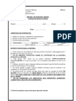 Colegio Alexander Fleming Prueba 1 Medio Estequiometria 2014