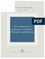 Fair valuation of Insurance Liabilities