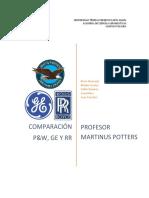 Comparación PW, GE, RR