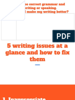 writing issues at a glance