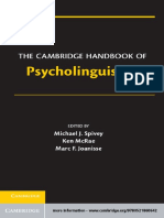 The Cambridge Handbook of Psycholinguistics