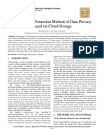 Study on the Protection Method of Data Privacy Based on Cloud Storage