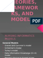 Theories Frameworks and Models